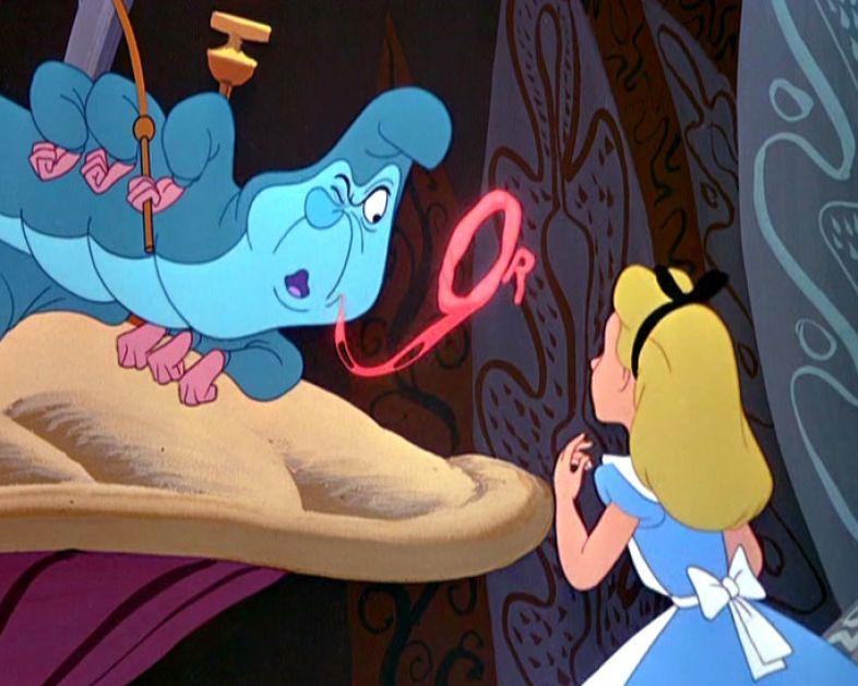 Alice in wonderland caterpillar disney