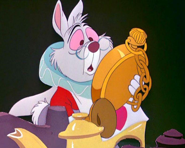 Alice in wonderland disney white rabbit