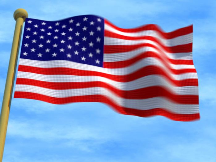 free animated clip art american flag - photo #38