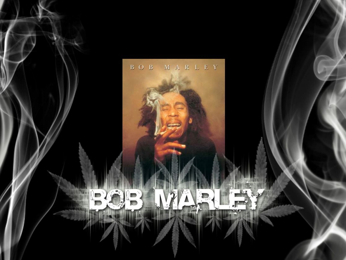 Bob marley smoking wal...