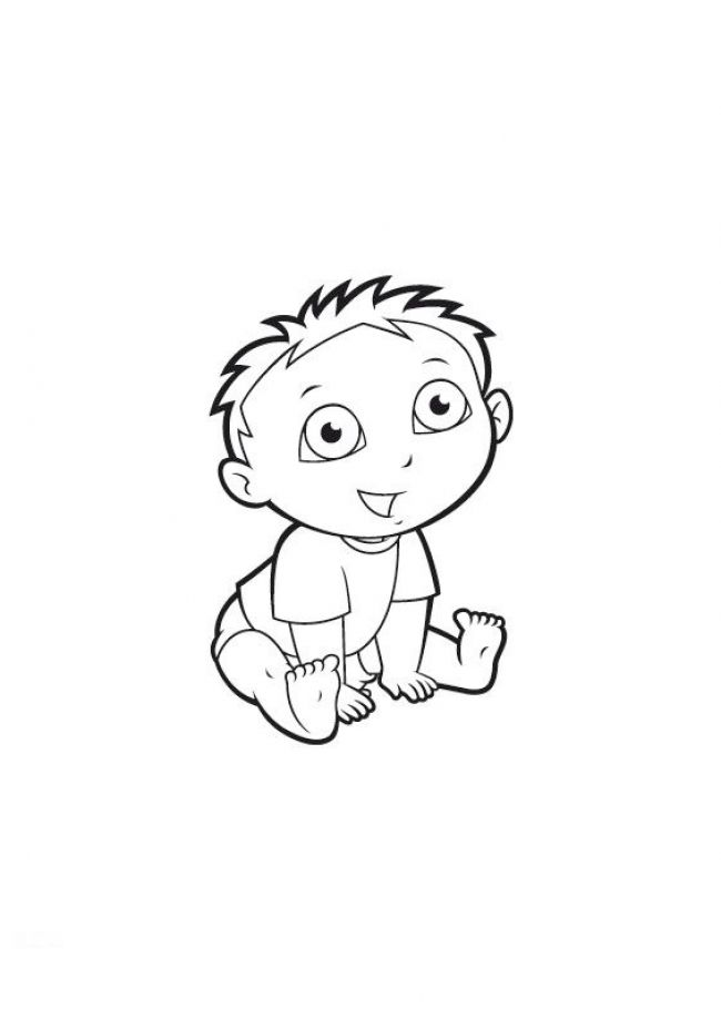 baby cutie coloring pages - photo#12