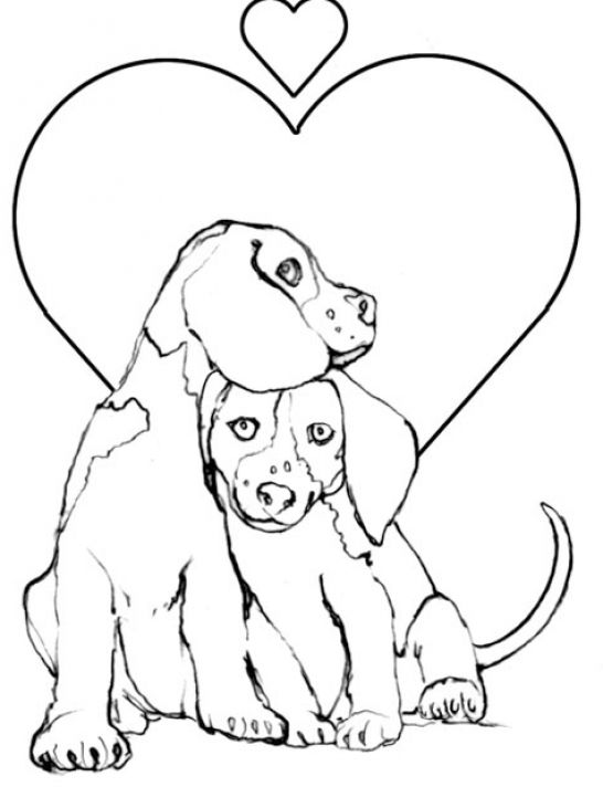 cute christmas puppies coloring pages