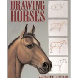 how to draw a jumping horse step by step