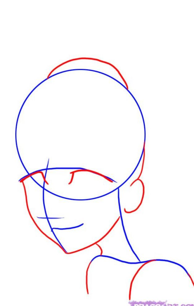 how to draw anime faces step by step for beginners