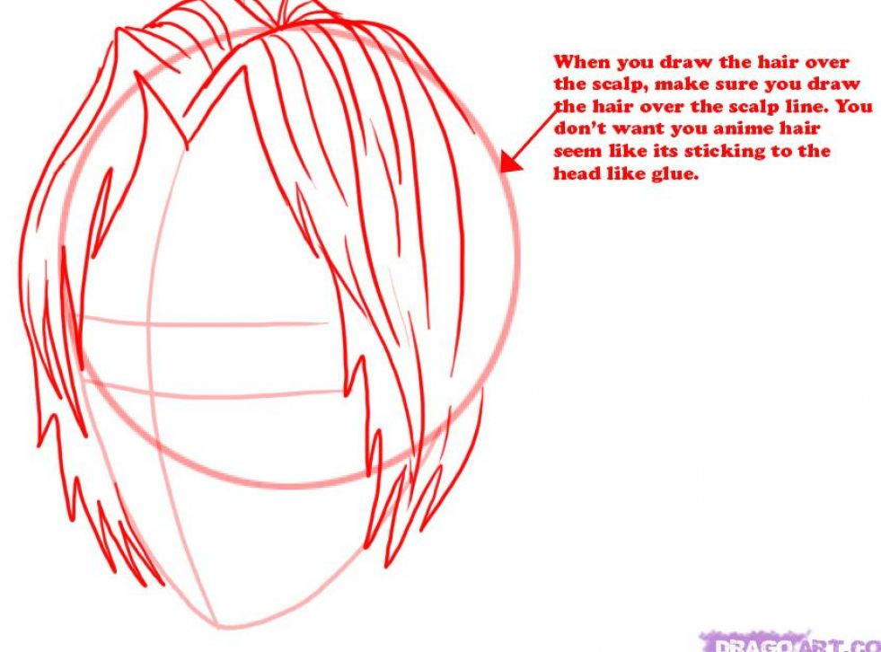 how to draw guy hair