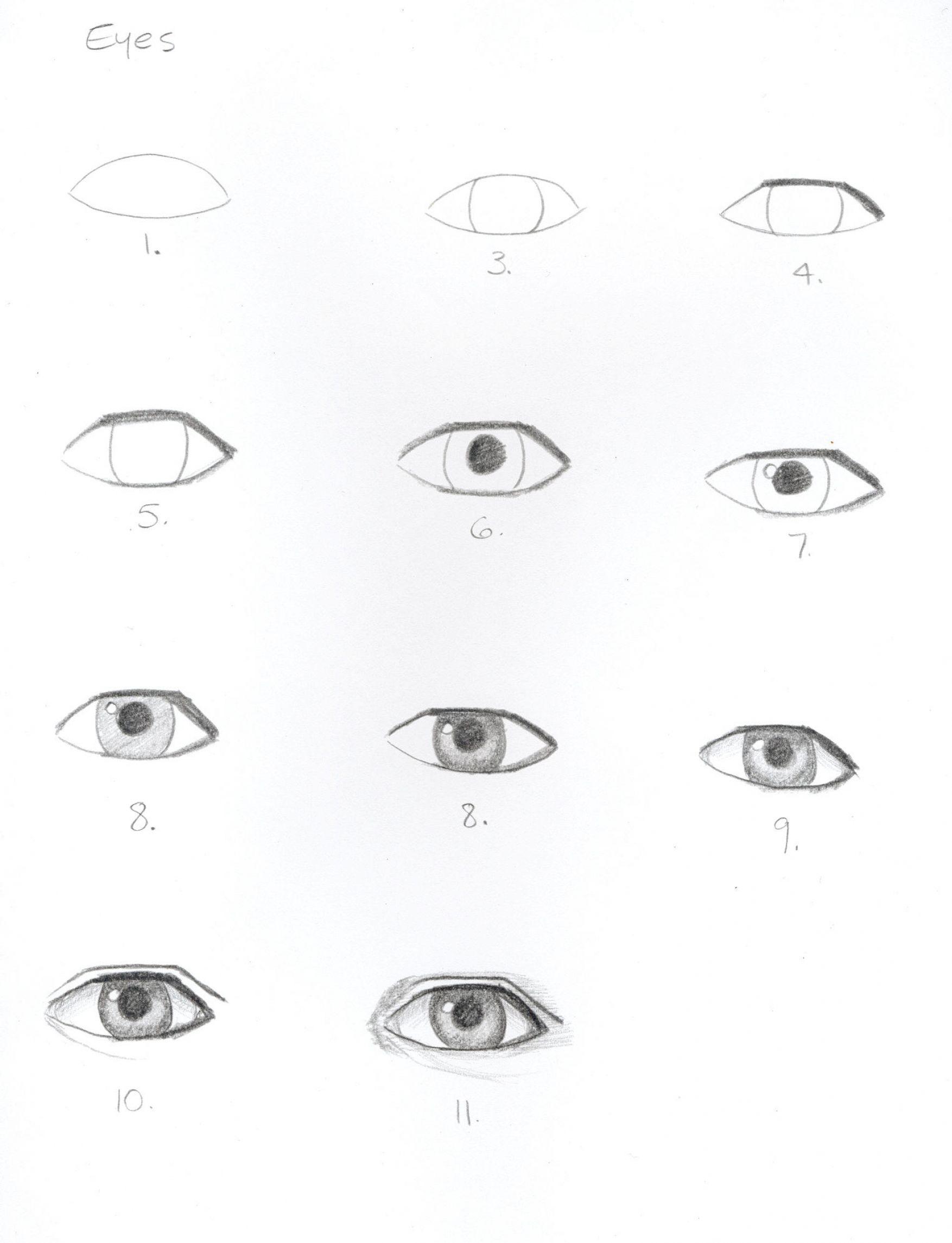 Как сделать глаза карандашом 307