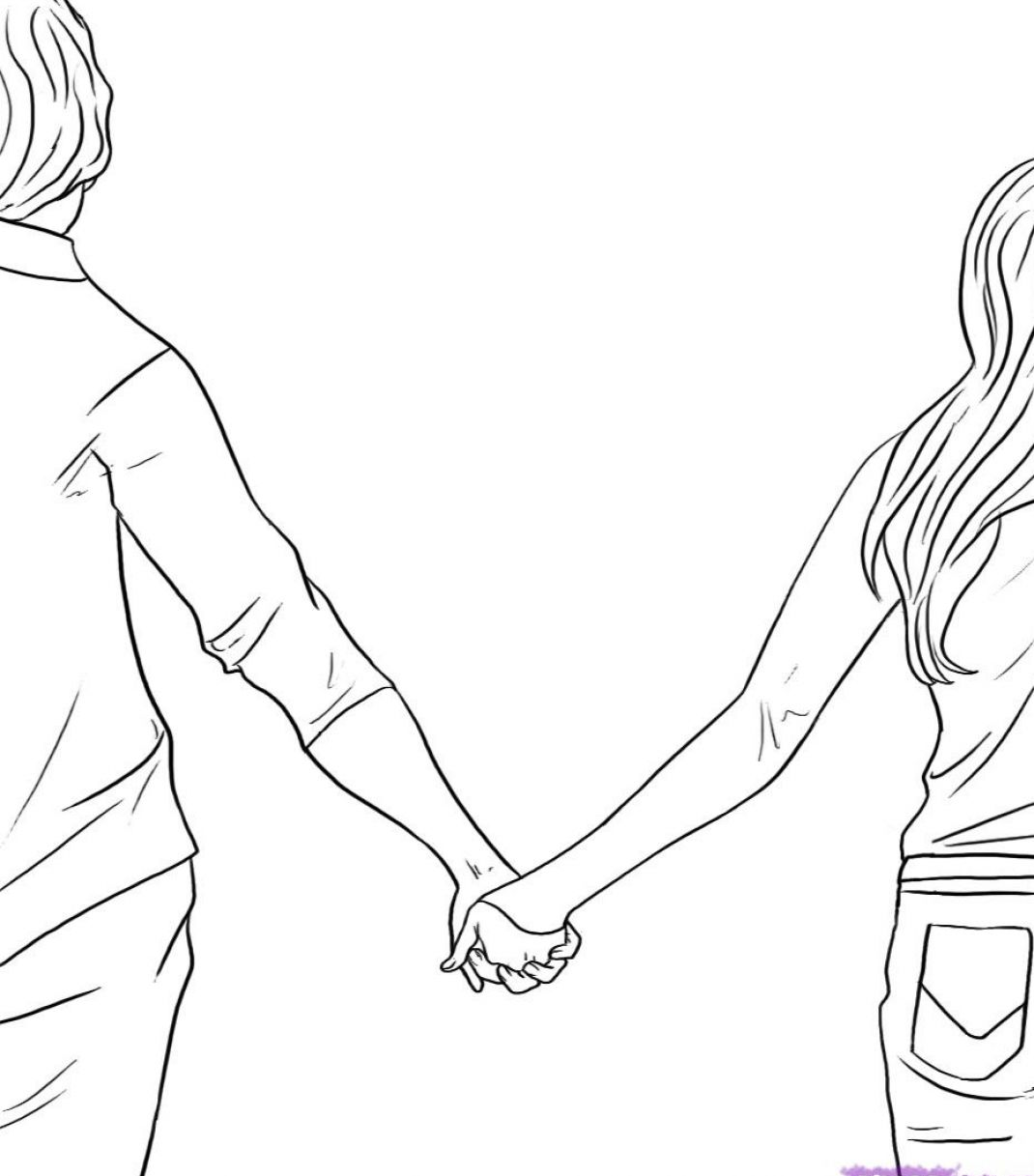 Love Each Other Coloring Page: How To Draw People In Love