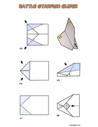 How to make a paper airplane glider pictures 1