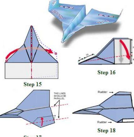 Как сделать самолёт f-16 из бумаги