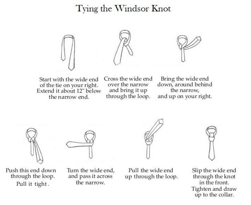 how to make a tie knot step by step