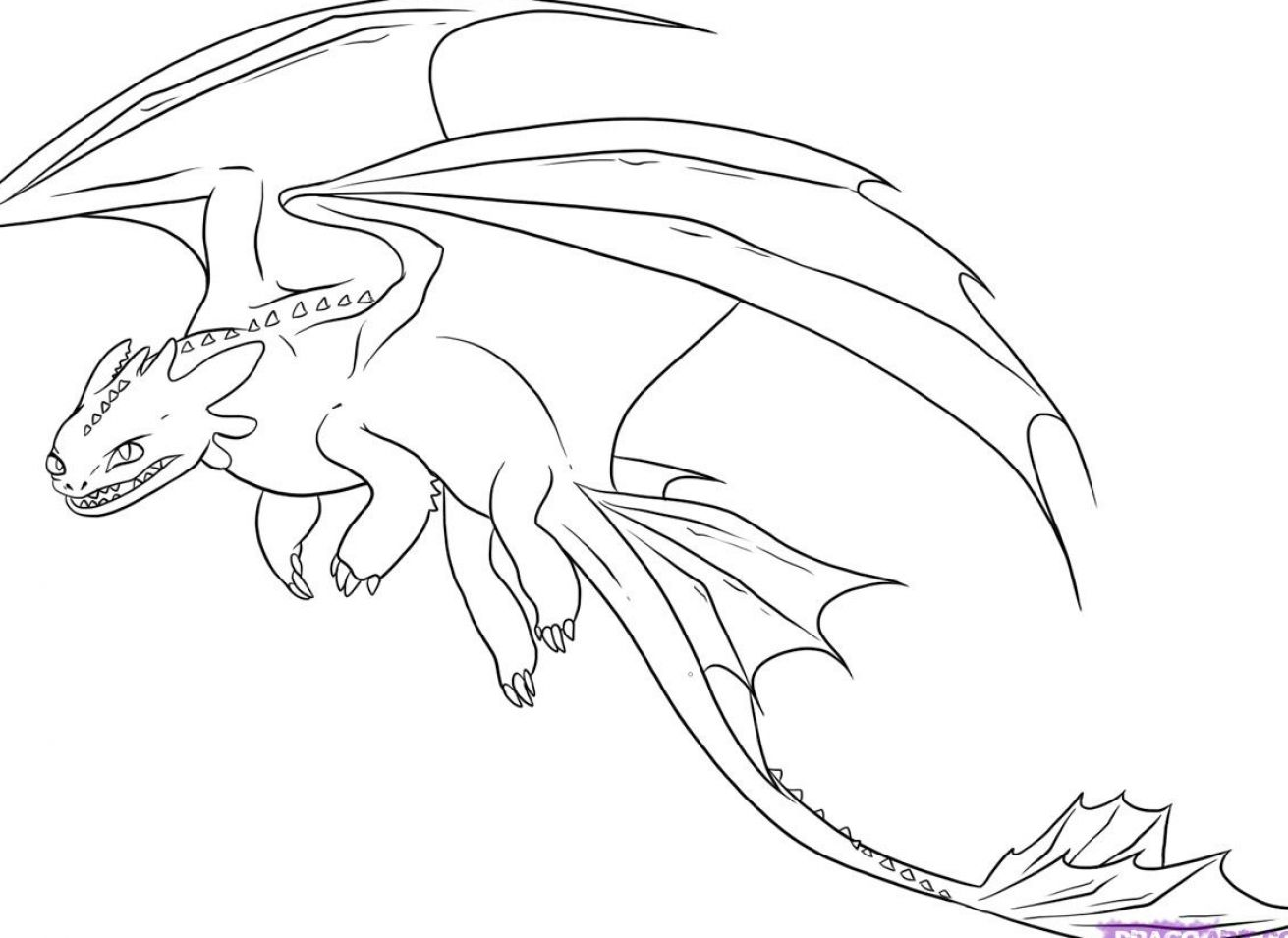 How To Train Your Dragon Night Fury Coloring Pages Fury Coloring Page