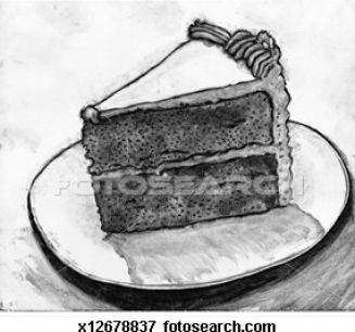 How to draw slice of cake